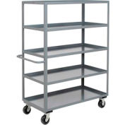 Jamco Heavy Duty Shelf Truck CE248 5 Shelves 48x24 3000 Lb. Capacity