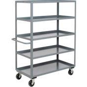 Jamco Heavy Duty Shelf Truck CE248 5 Shelves 48x24 3000 Lb. Capacity