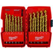 "Milwaukee® 48-89-0012 Thunderbolt® 1/16""-1/2"" 29Pc. Titanium Coated Drill Bit Set"