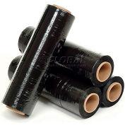 "Western Plastic Stretch Wrap, Blown, 80 Gauge, 18""Wx1500'L, Black - Pkg Qty 4"