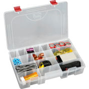 """Plano ProLatch™ StowAway® 6-21 Adjustable Compartment Box, 14""""Wx9-1/8""""Dx2-13/16""""H, Clear - Pkg Qty 3"""