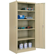 "Global Industrial™ Storage Cabinet, Turn Handle, 36""Wx24""Dx78""H, Tan, Unassembled"