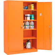 "Global Industrial™ Emergency Preparedness Cabinet, 48""Wx18""Dx78""H, Orange, Unassembled"