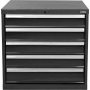 "Global Industrial™ Modular Drawer Cabinet, 5 Drawers, w/Lock w/o Dividers 30""x27""x29-1/2"" Black"