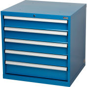 Global Industrial™ Modular Drawer Cabinet, 5 Drawers, w/Lock, w/o Dividers, 30Wx27Dx29-1/2H BL