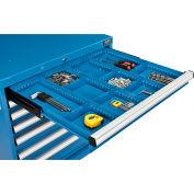 "Global Industrial™ Divider Kit for 3""H Drawer of Modular Drawer Cabinet 30""Wx27""D, Blue"