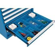 "Global Industrial™ Divider Kit for 4""H Drawer of Modular Drawer Cabinet 30""Wx27""D, Blue"