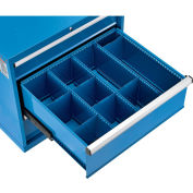 "Global Industrial™ Divider Kit for 10""H Drawer of Modular Drawer Cabinet 30""Wx27""D, Blue"
