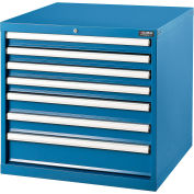 """Global Industrial™ Modular Drawer Cabinet, 7 Drawers, w/Lock, w/o Dividers, 30x27x29-1/2""""H, BL"""