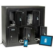Global Industrial™ Tablet & Cell Phone Charging Locker - 8 Door, Keyed Lock, Hasp & Master Door