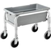 "Global Industrial™ NSF Aluminum Lug Cart 23""L x 15-1/2""W x 19""H, 1 Tote Capacity, All Welded"
