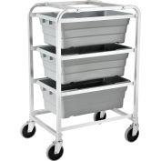 "Global Industrial™ NSF Aluminum Lug Cart 26""L x 19""W x 41""H, 3 Tote Capacity, Unassembled"
