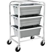 "Global Industrial™ NSF Aluminum Lug Cart 26""L x 19""W x 41""H, 3 Tote Capacity, Unassembled"