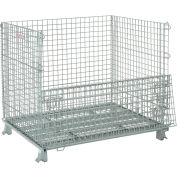 "Global Industrial™, Folding Wire Container 48""L x 40""W x 42-1/2""H 3000 Lb. Capacity"