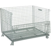 "Global Industrial™ Folding Wire Container 48""L x 40""W x 36-1/2""H 3000 Lb. Capacity"