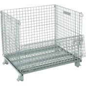"Global Industrial™ Folding Wire Container 40""L x 32""W x 34-1/2""H 3000 Lb. Capacity"