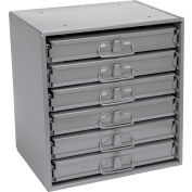 Durham Steel Compartment Box Rack 15-1/4 x 11-3/4 x 16-3/8 with 6 of 12-Compartment Boxes