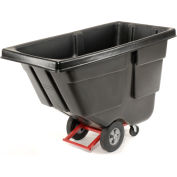Rubbermaid® Heavy Duty Plastic Tilt Truck, 1/2 Cu. Yd. Cap, 450 Lbs. Cap, Black