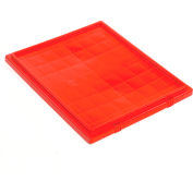 Global Industrial™ Lid LID231 for Stack and Nest Storage Container SNT225, SNT230, Red - Pkg Qty 3