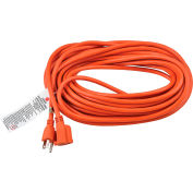 Global Industrial™ 50 Ft. Outdoor Extension Cord, 14/3 Ga, 15A, Orange