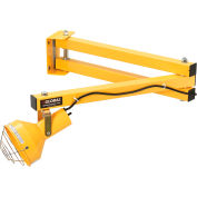 "Global Industrial™ Double Arm Dock Light, 40""L Reach, Screw-in Med. Base, Par38 Bulb Compatible"