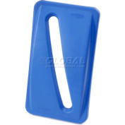 Paper Recycling Lid for Rubbermaid Recycling Container, Blue - Pkg Qty 4