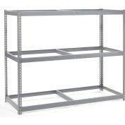 Global Industrial™ Wide Span Rack 60Wx24Dx84H, 3 Shelves No Deck 1200 Lb Cap. Per Level, Gray