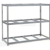 "Wide Span Rack 96""W x 24""D x 60""H With 3 Shelves No Deck 800 Lb Capacity Per Level - Gray"