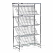 "Slant Wire Shelving - 5 Shelves - 36""W x 18""D x 63""H"