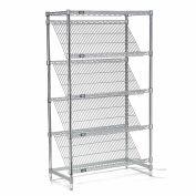"Slant Wire Shelving - 5 Shelves - 48""W x 24""D x 74""H"