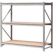 """Global Industrial™ Extra High Capacity Bulk Rack With Wood Decking 96""""W x 36""""D x 96""""H Starter"""