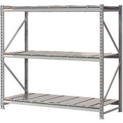 "Global Industrial™ Extra High Capacity Bulk Rack With Steel Decking 96""W x 48""D x 120""H Starter"