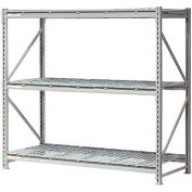 """Global Industrial™ Extra High Capacity Bulk Rack With Wire Decking 96""""W x 36""""D x 96""""H Starter"""