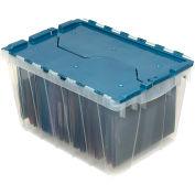"""Akro-Mils Clear KeepBox Container 66486FILEB w/File Rails - 21-1/2""""L x 15""""W x 12-1/2""""H - Pkg Qty 6"""