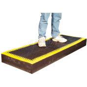 "Add-A-Mat™ Anti-Fatigue Mat 7/8"" Thick 3' x 8' Black/Yellow Border"