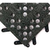 "F.I.T.™ Functional Interlock Open Tile w/Grit Shield 5/8"" Thick 1' x 1' Black - Case of 20 - Pkg Qty 20"