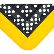 "F.I.T.™ Kit Open Grid w/Gritshield 5/8"" Thick 2.25' x 4.5' Black w/Yellow Edging"