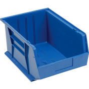 "Global Industrial™ Plastic Stack & Hang Bin, 11""W x 16""D x 8""H, Blue - Pkg Qty 4"