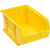 Plastic Stack and Hang Parts Storage Bin 11 x 16 x 8 Yellow - Pkg Qty 4