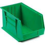 "Plastic Stack & Hang Bin, 11""W x 18""D x 10""H, Green - Pkg Qty 4"