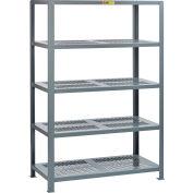 "Little Giant® 5SHP-3060-72 Heavy-Duty Perforated Steel Shelving, 30"" x 60"", 5 Shelves"