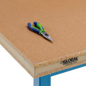 """Global Industrial™ 60""""W x 30""""D x 2-1/4""""H Shop Top Safety Edge Workbench Top"""