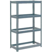 """Global Industrial™ Extra Heavy Duty Shelving 36""""W x 24""""D x 72""""H With 4 Shelves, No Deck, Gray"""