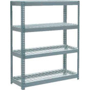 """Global Industrial™ Extra Heavy Duty Shelving 48""""W x 24""""D x 60""""H With 4 Shelves, Wire Deck, Gry"""