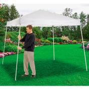 "Global Industrial™ Portable Slant Leg Pop Up Canopy, 10'L x 10'W x 8'11""H, White"