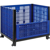 Global Industrial™ Easy Assembly Vented Wall Bulk Container 39-1/4 x 31-1/2 x 29 - Drop Gate
