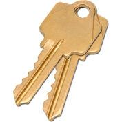Global Industrial™ 2 Keys For Mortise Lock (Keyed Alike)