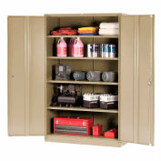Global Industrial™ Storage Cabinet Easy Assembly 48x24x78 Tan