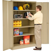 Global Industrial™ Storage Cabinet Easy Assembly 48x18x78 Tan
