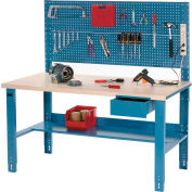 """Global Industrial™ Complete Industrial Workbench With Plastic Laminate Square Edge, 60"""" x 30"""""""